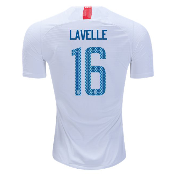 Home Rose Lavelle 2018 USA Replica Men's Stadium Jersey