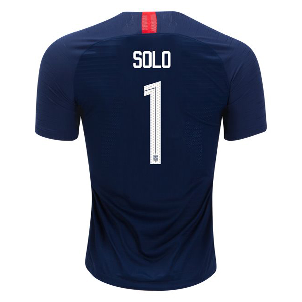 Away Hope Solo 2018 USA Replica Men's Stadium Jersey
