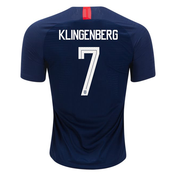 Away Meghan Klingenberg 2018 USA Replica Men's Stadium Jersey