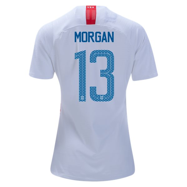 Home Alex Morgan 2018/19 USA Women's Stadium Jersey 3 Star