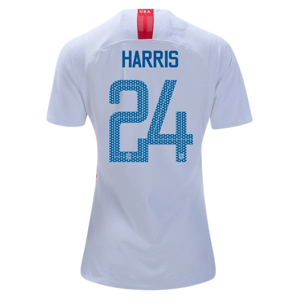 Home Ashlyn Harris 2018/2019 USA Women's Stadium Jersey 3-Star