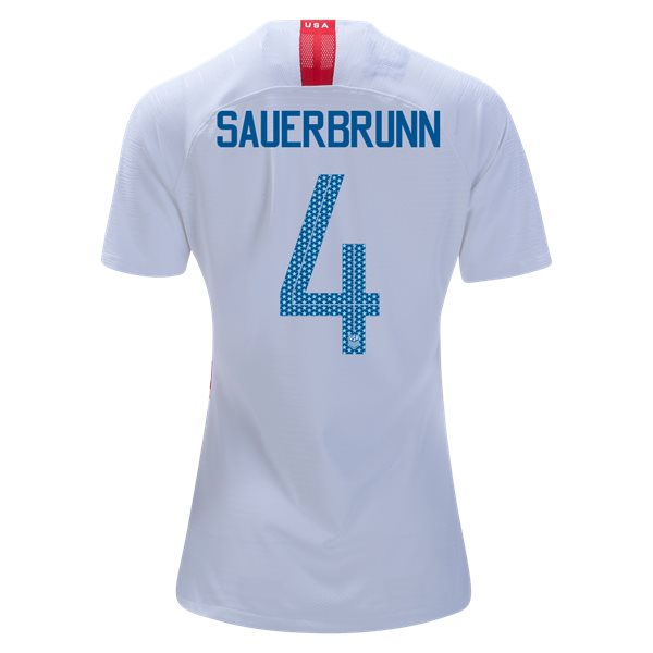Home Becky Sauerbrunn 2018/19 USA Women's Stadium Jersey 3 Star