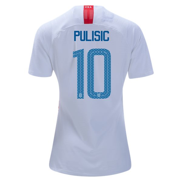 Home Christian Pulisic 2018/19 USA Women's Stadium Jersey 3 Star