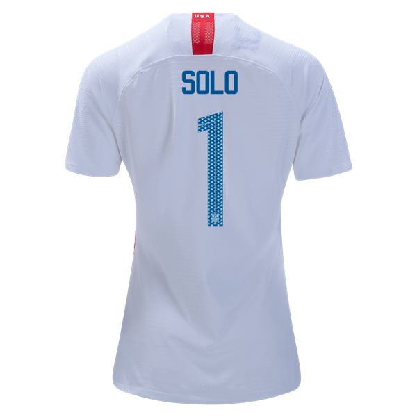 Home Hope Solo 2018/19 USA Women's Stadium Jersey 3 Star