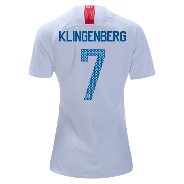 Home Meghan Klingenberg 2018/19 USA Women's Stadium Jersey 3 Star