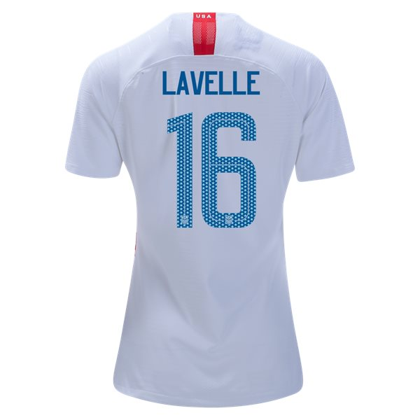 Home Rose Lavelle 2018/2019 USA Women's Stadium Jersey 3-Star