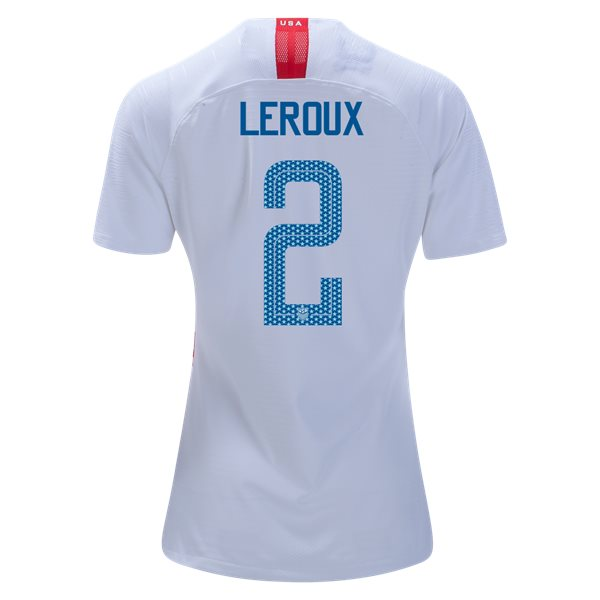 Home Sydney Leroux 2018/19 USA Women's Stadium Jersey 3 Star