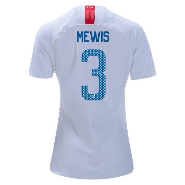 Home Samantha Mewis 2018/19 USA Women's Stadium Jersey 3 Star