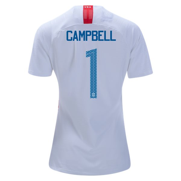 Home Jane Campbell 2018/2019 USA Women's Stadium Jersey 3-Star