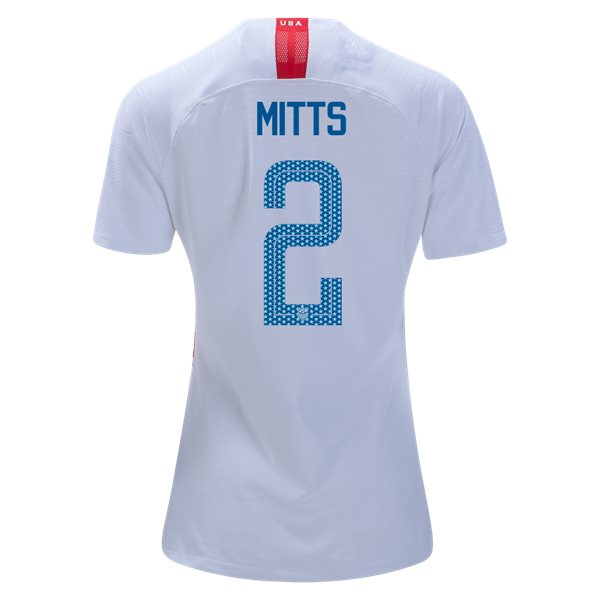 Home Heather Mitts 2018 USA Women's Stadium Jersey 3-Star