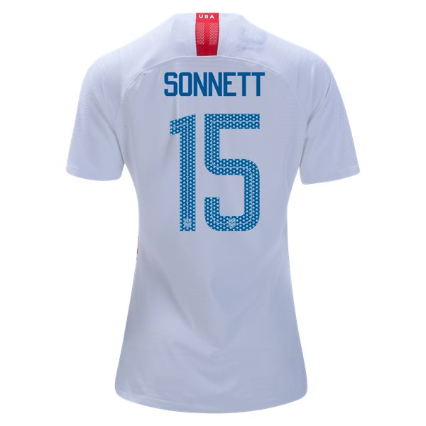 Home Emily Sonnett 18/19 USA Women's Stadium Jersey 3 Star