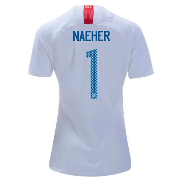 Home Alyssa Naeher 2018/19 USA Women's Stadium Jersey 3 Star