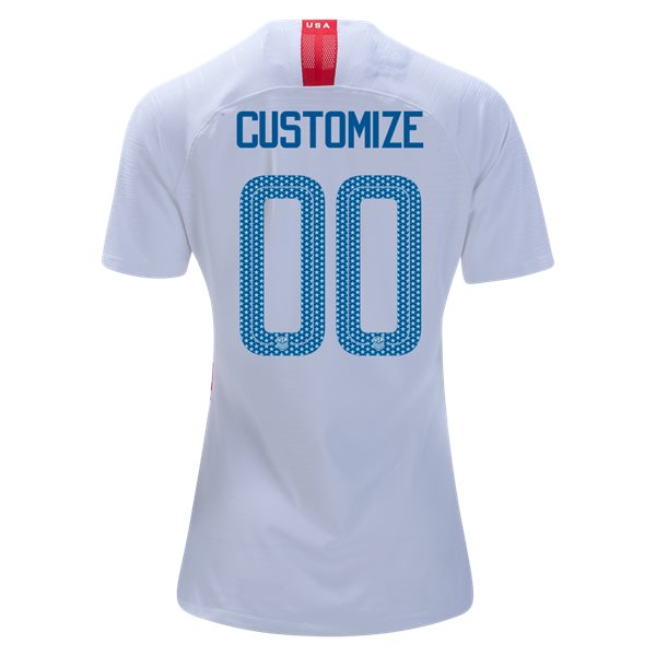 Home Customized 2018 USA Women's Stadium Jersey 3-Star