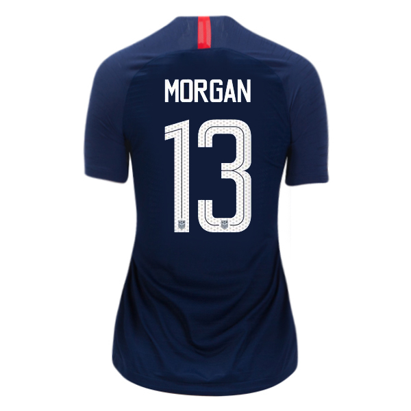 Away Alex Morgan 2018/2019 USA Women's Stadium Jersey 3-Star