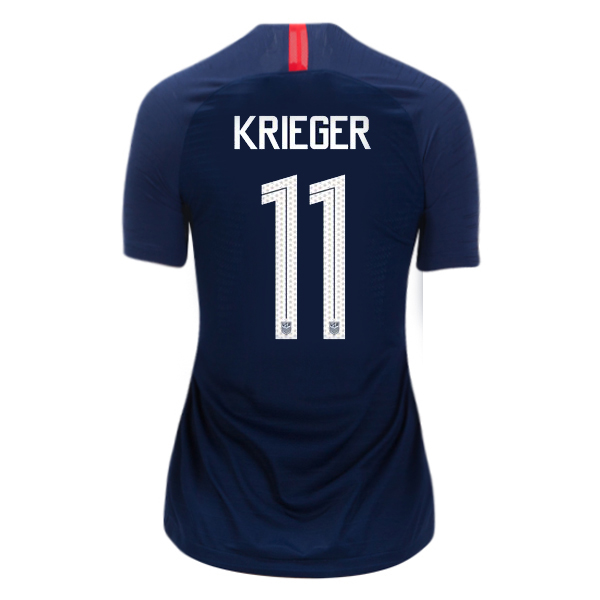 Away Ali Krieger 2018/19 USA Women's Stadium Jersey 3 Star