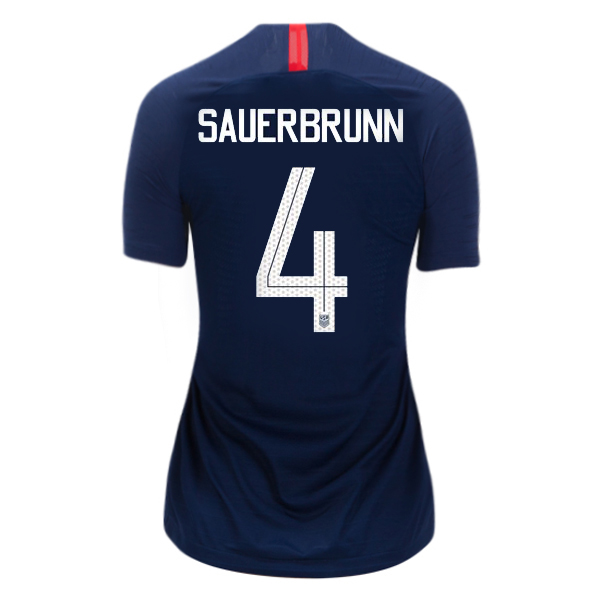 Away Becky Sauerbrunn 2018/2019 USA Women's Stadium Jersey 3-Star