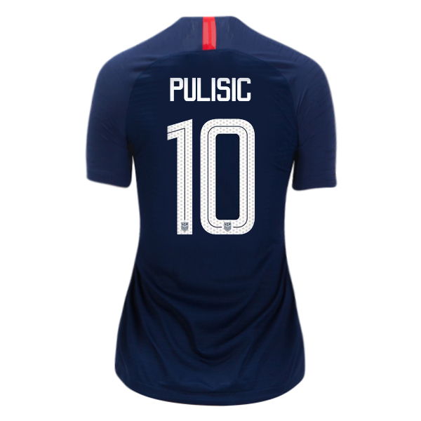 Away Christian Pulisic 2018/2019 USA Women's Stadium Jersey 3-Star