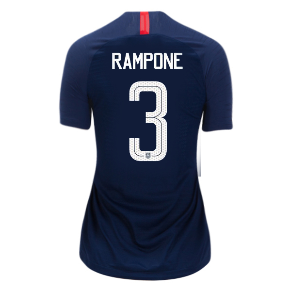 Away Christie Rampone 2018/19 USA Women's Stadium Jersey 3 Star