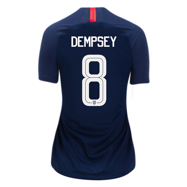 Away Clint Dempsey 2018 USA Women's Stadium Jersey 3-Star