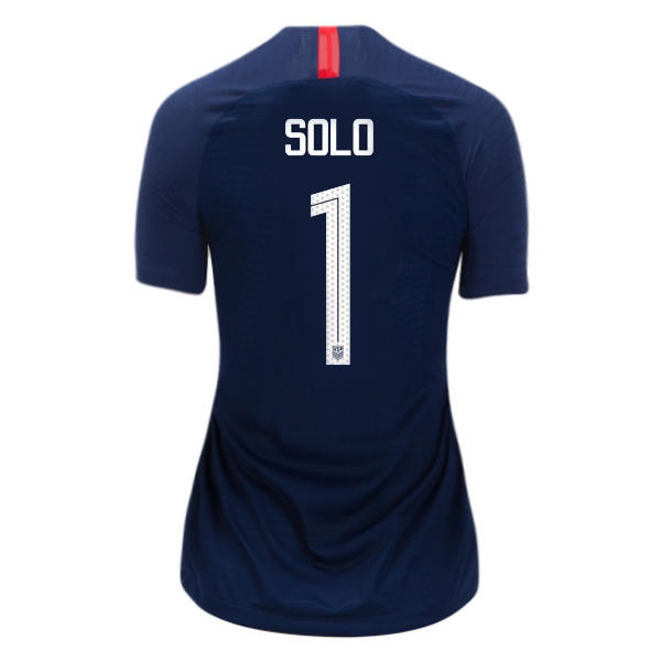 Away Hope Solo 2018/2019 USA Women's Stadium Jersey 3-Star
