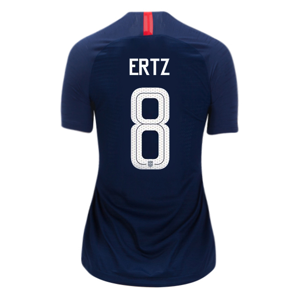 Away Julie Ertz 2018 USA Women's Stadium Jersey 3-Star