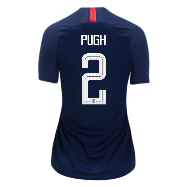 Away Mallory Pugh 2018 USA Women's Stadium Jersey 3-Star