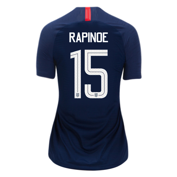 Away Megan Rapinoe 18/19 USA Women's Stadium Jersey 3 Star