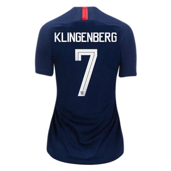 Away Meghan Klingenberg 2018/2019 USA Women's Stadium Jersey 3-Star