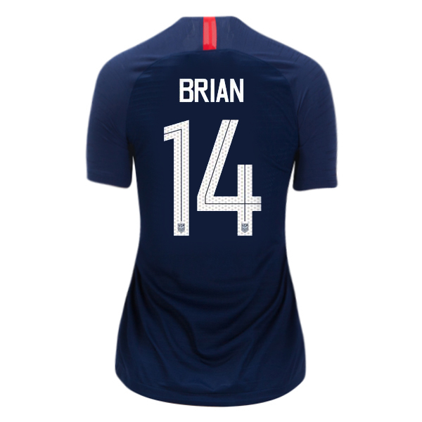 Away Morgan Brian 2018 USA Women's Stadium Jersey 3-Star