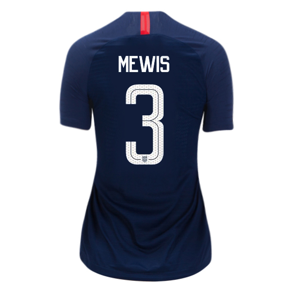Away Samantha Mewis 2018/2019 USA Women's Stadium Jersey 3-Star