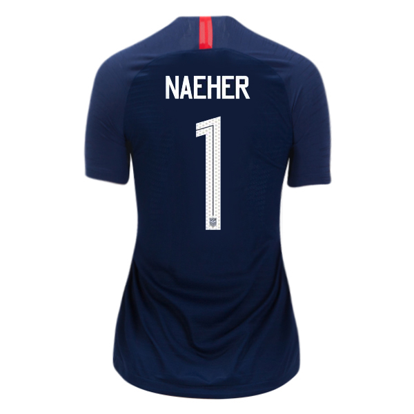 Away Alyssa Naeher 2018/2019 USA Women's Stadium Jersey 3-Star