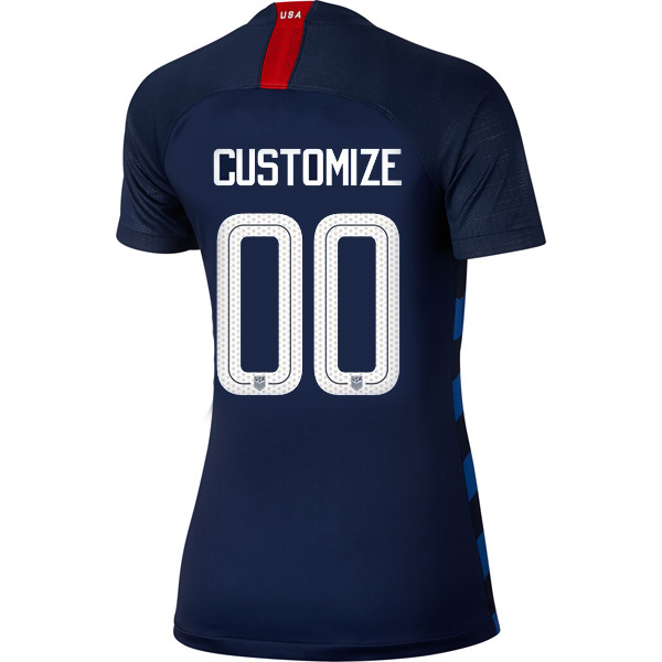 Away Customized 2018/19 USA Women's Stadium Jersey 3 Star