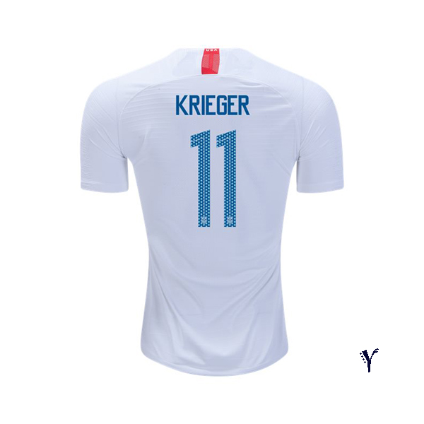 Home Ali Krieger 2018/2019 USA Youth Stadium Soccer Jersey