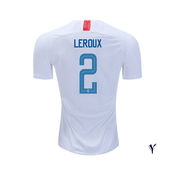 Home Sydney Leroux 18/19 USA Youth Stadium Soccer Jersey