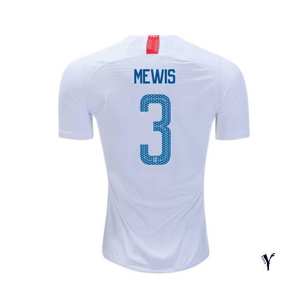 Home Samantha Mewis 18/19 USA Youth Stadium Soccer Jersey