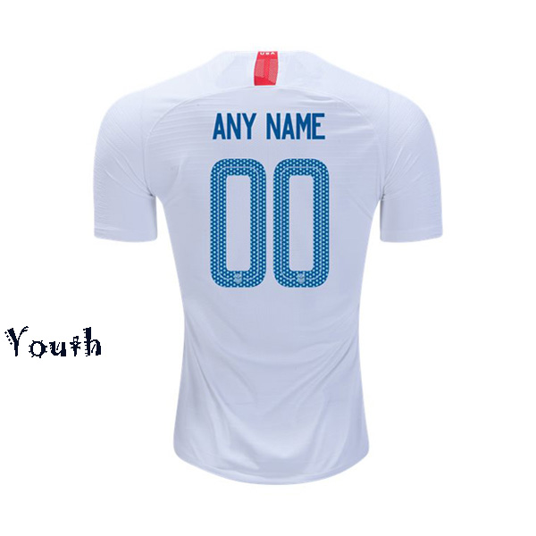 Home Customized 2018/2019 USA Youth Stadium Soccer Jersey