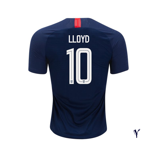 Away Carli Lloyd 2018/2019 USA Youth Stadium Soccer Jersey
