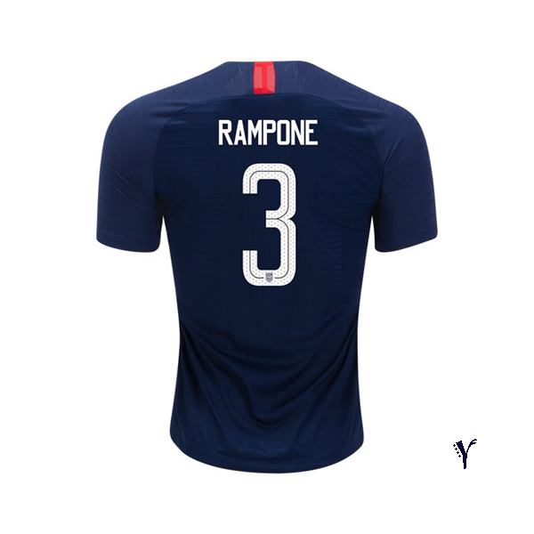 Away Christie Rampone 18/19 USA Youth Stadium Soccer Jersey