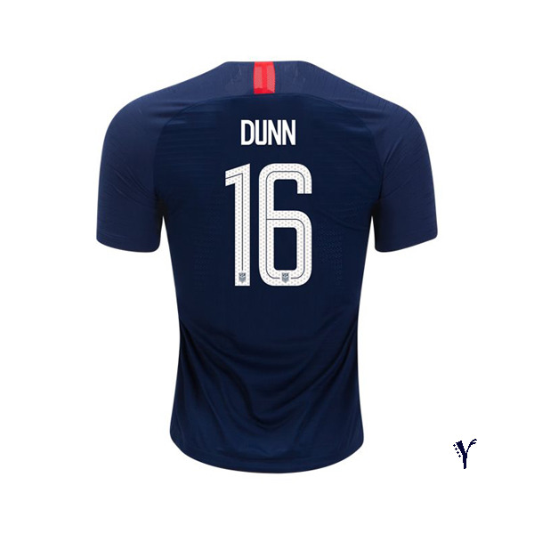 Away Crystal Dunn 2018/19 USA Youth Stadium Soccer Jersey