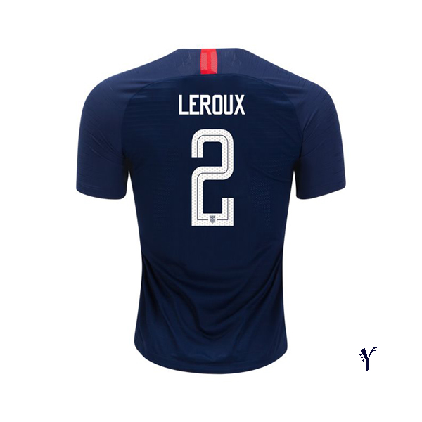 Away Sydney Leroux 2018 USA Youth Stadium Soccer Jersey
