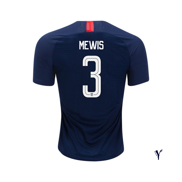 Away Samantha Mewis 2018 USA Youth Stadium Soccer Jersey