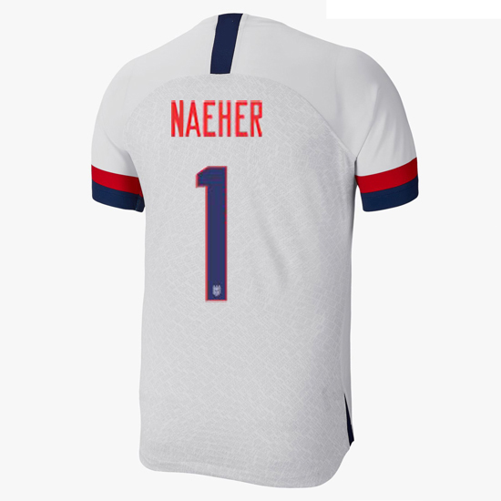 USA Home Alyssa Naeher 2019/2020 Men's Stadium Soccer Jersey