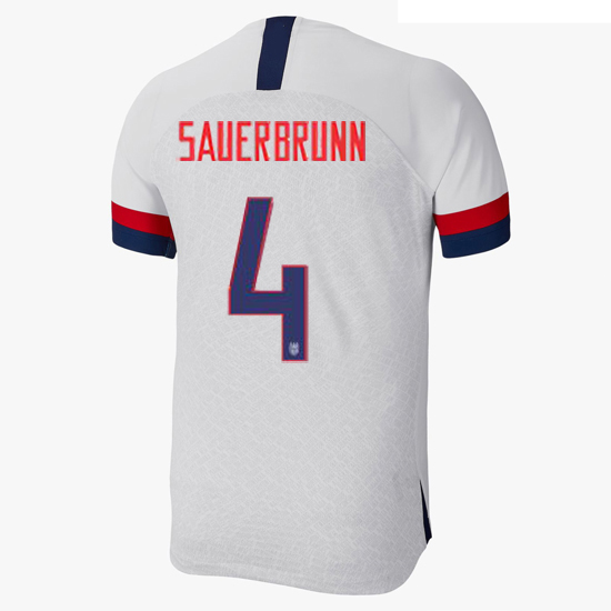 USA Home Becky Sauerbrunn 2019/2020 Men's Stadium Soccer Jersey