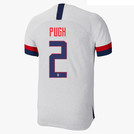 USA Home Mallory Pugh 2019/2020 Men's Stadium Soccer Jersey