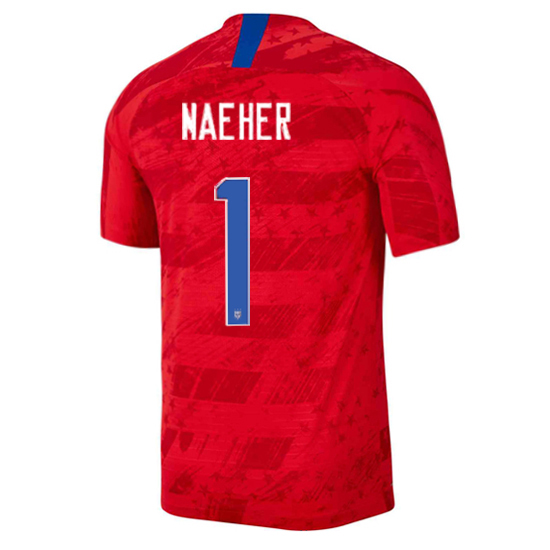 USA Away Alyssa Naeher 2019 Men's Stadium Soccer Jersey