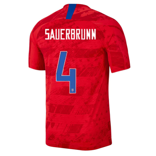 USA Away Becky Sauerbrunn 19/20 Men's Stadium Soccer Jersey