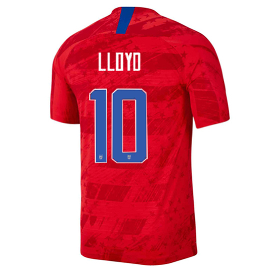 USA Away Carli Lloyd 2019 Men's Stadium Soccer Jersey