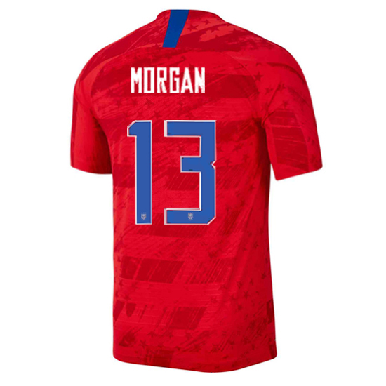 USA Away Alex Morgan 2019/2020 Men's Stadium Soccer Jersey
