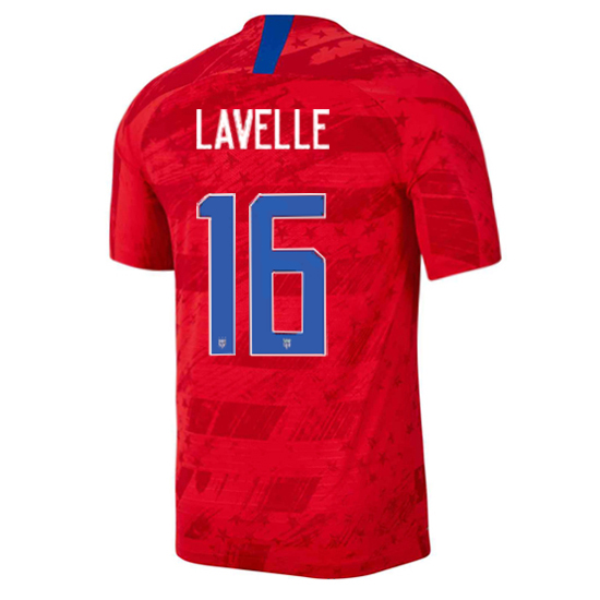 USA Away Rose Lavelle 2019 Men's Stadium Soccer Jersey