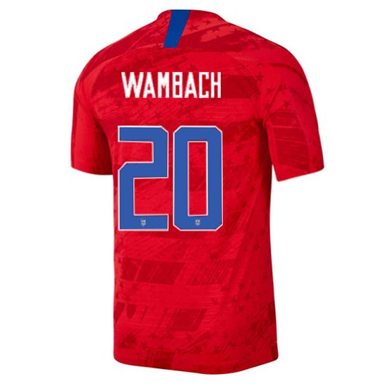 USA Away Abby Wambach 2019/20 Men's Stadium Soccer Jersey